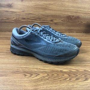 Brooks Ghost 10 Black Athletic Road Running Shoes